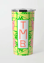 Load image into Gallery viewer, Monkey Trapeze Trellis, Banana, Stainless Steel Travel Tumbler