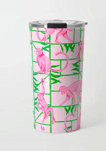 Monkey Trapeze Trellis, Jungle, Stainless Steel Travel Tumbler