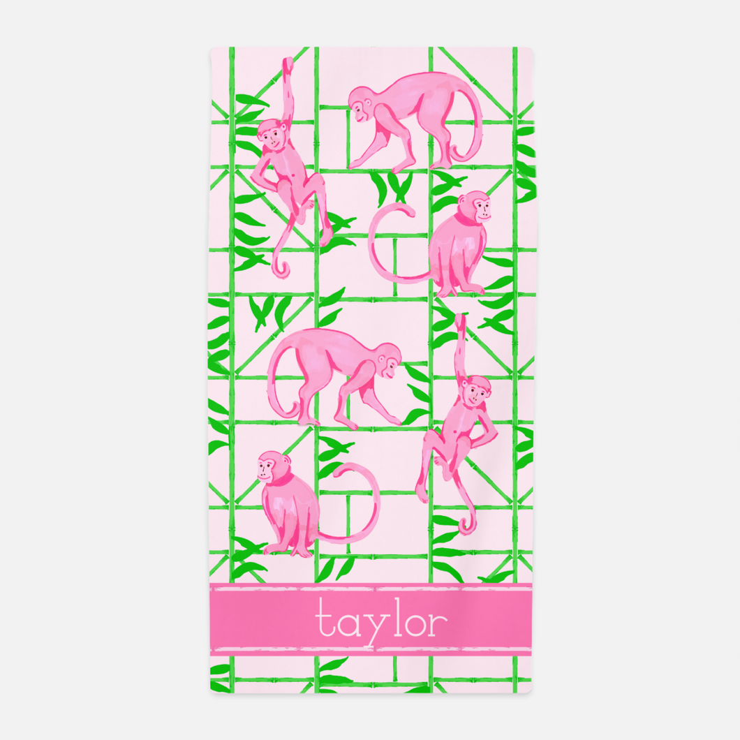 Monkey Trellis Beach Towel