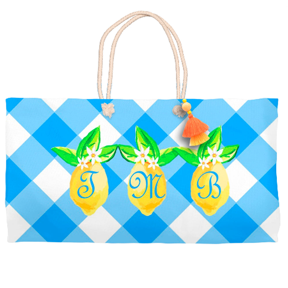 Lovely Lemon Tote Bag, Grove Picnic