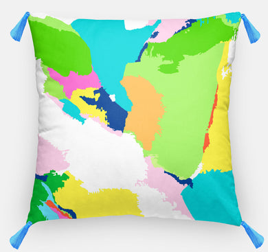 Turquoise Abstract Pillow