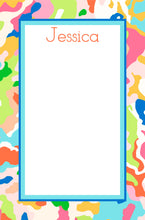 Load image into Gallery viewer, Confetti Camo Personalized Notepad, Multiple Sizes Available