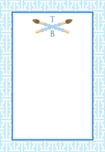 Chinois Scribe Personalized Notepad, Multiple Sizes Available, Powder Blue