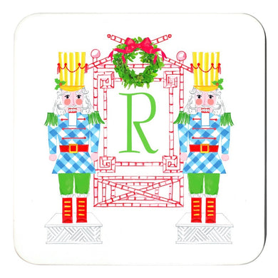 Nutcracker Sweet, Snowfall, Personalized Cork Backed Holiday Coasters - Set of 4