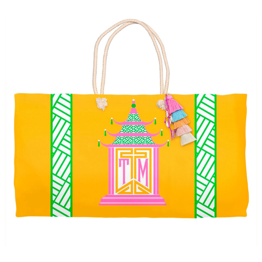 Royal Pagoda, Topaz, Tote Bag