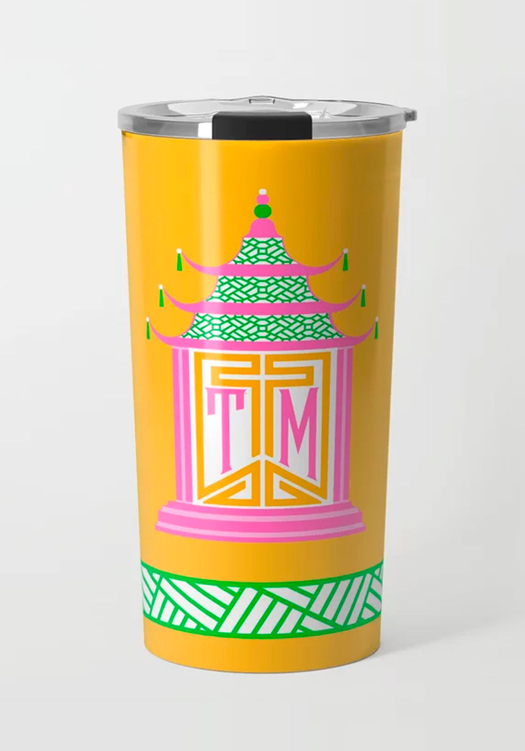 Royal Pagoda, Topaz, Stainless Steel Travel Tumbler