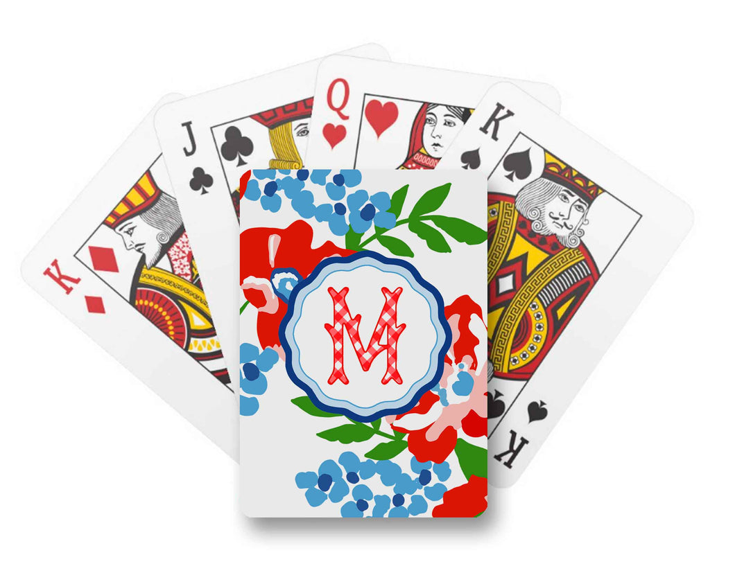 Patriotic Picnic Personalized Playing Cards
