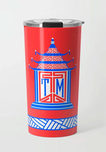 Royal Pagoda, Patriotic, Stainless Steel Travel Tumbler