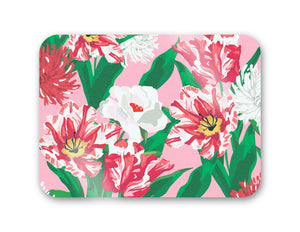 "Peppermint Posies 16"" x 12"" Tempered Glass Cutting Board"