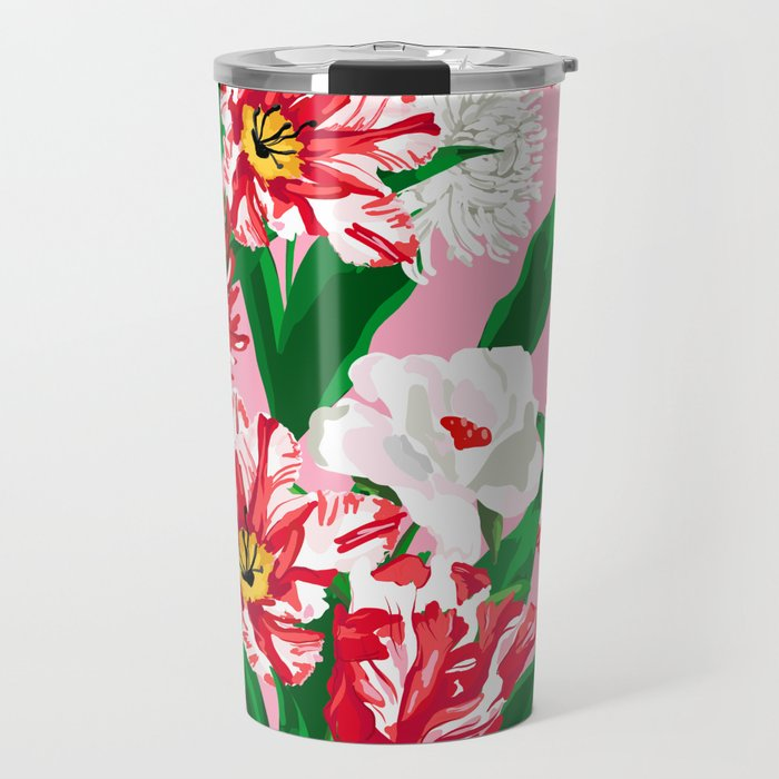 *SALE* Peppermint Posies Christmas Travel Tumbler