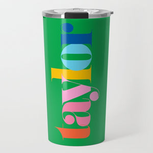 Make It Mine Personalized Travel Tumbler, Kelly