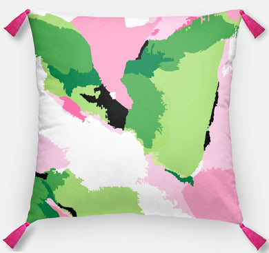 Pink Abstract Pillow