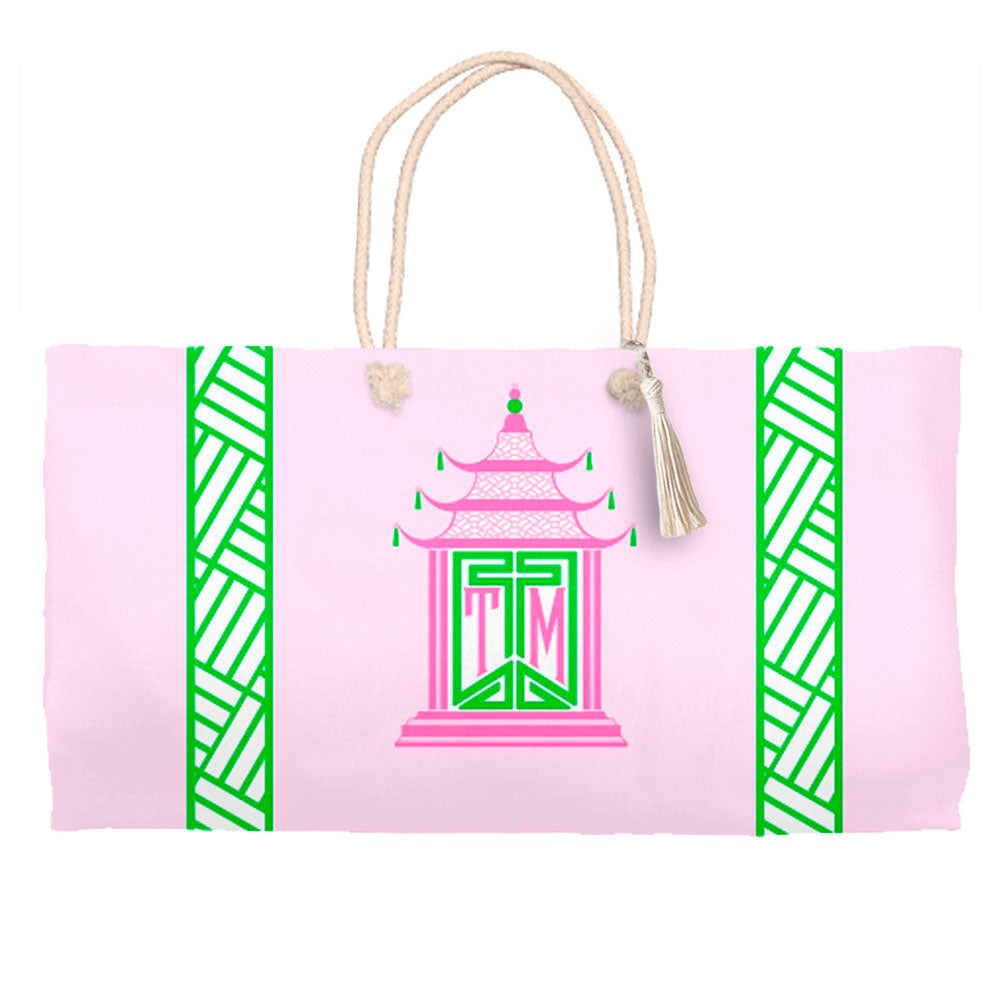 Royal Pagoda, Pink Quartz, Tote Bag