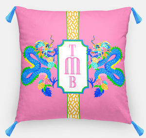 "Dragon Crest Personalized Pillow, Dragon Fruit18""x18"" or 20""x20"""