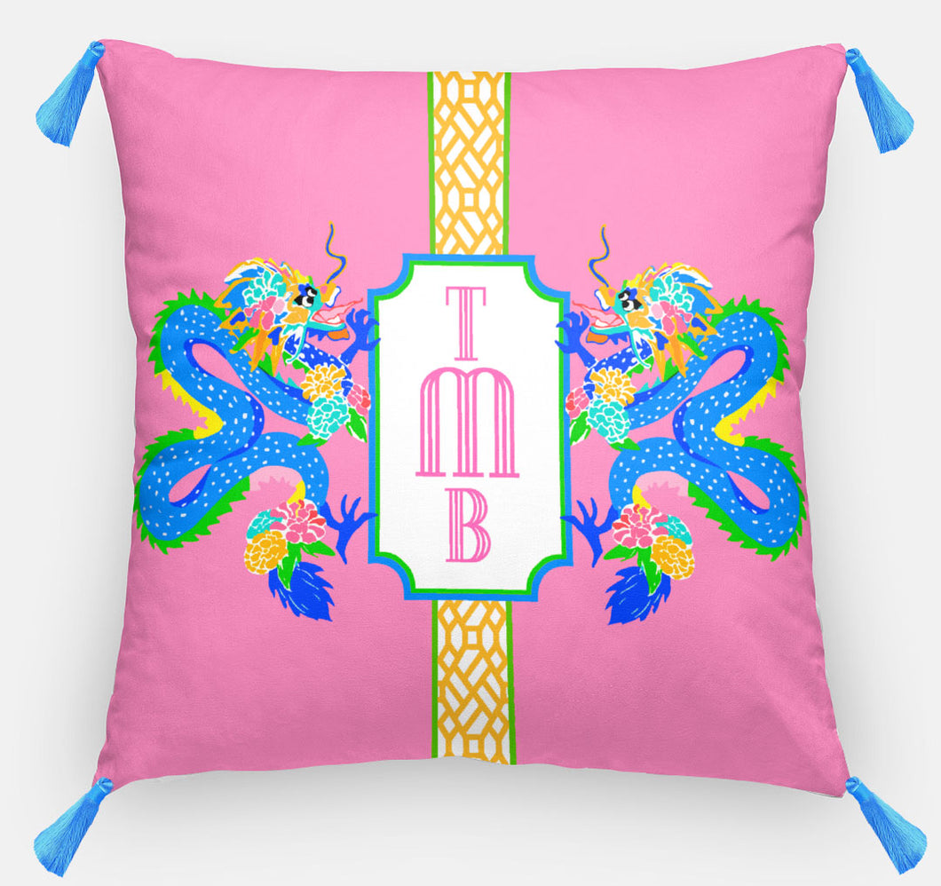 Dragon Crest Personalized Pillow, Dragon Fruit18