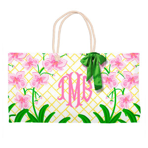 Pink Orchid Personalized Tote Bag