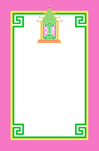 Royal Pagoda, Tourmaline, Personalized Notepad Multiple Sizes Available