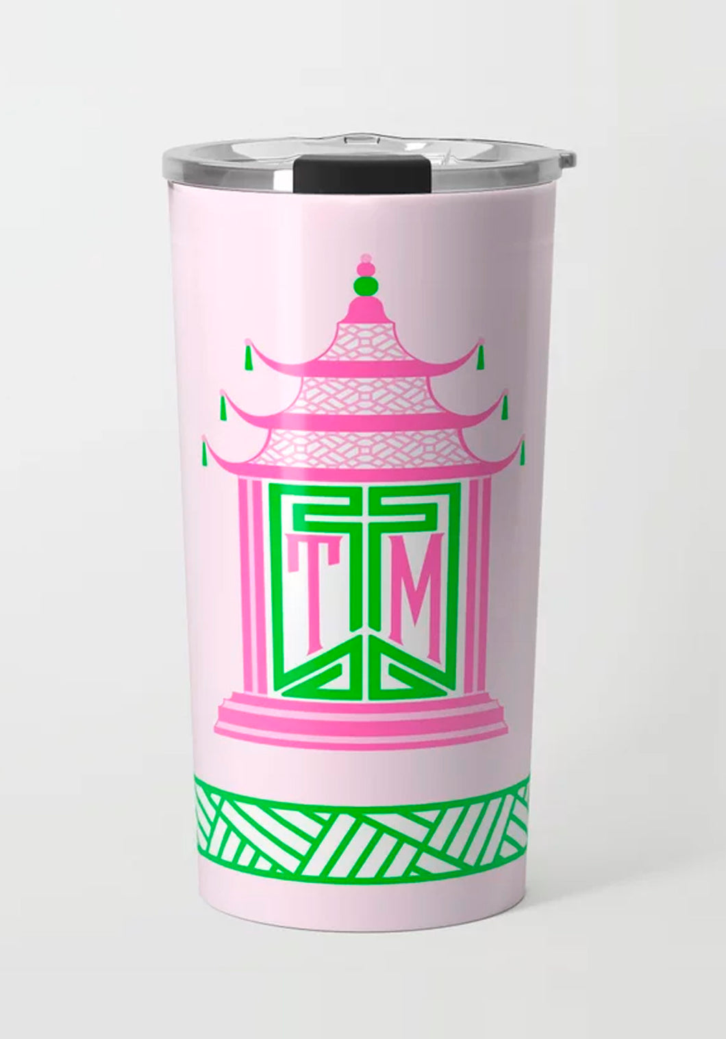 Royal Pagoda, Pink Quartz, Stainless Steel Travel Tumbler