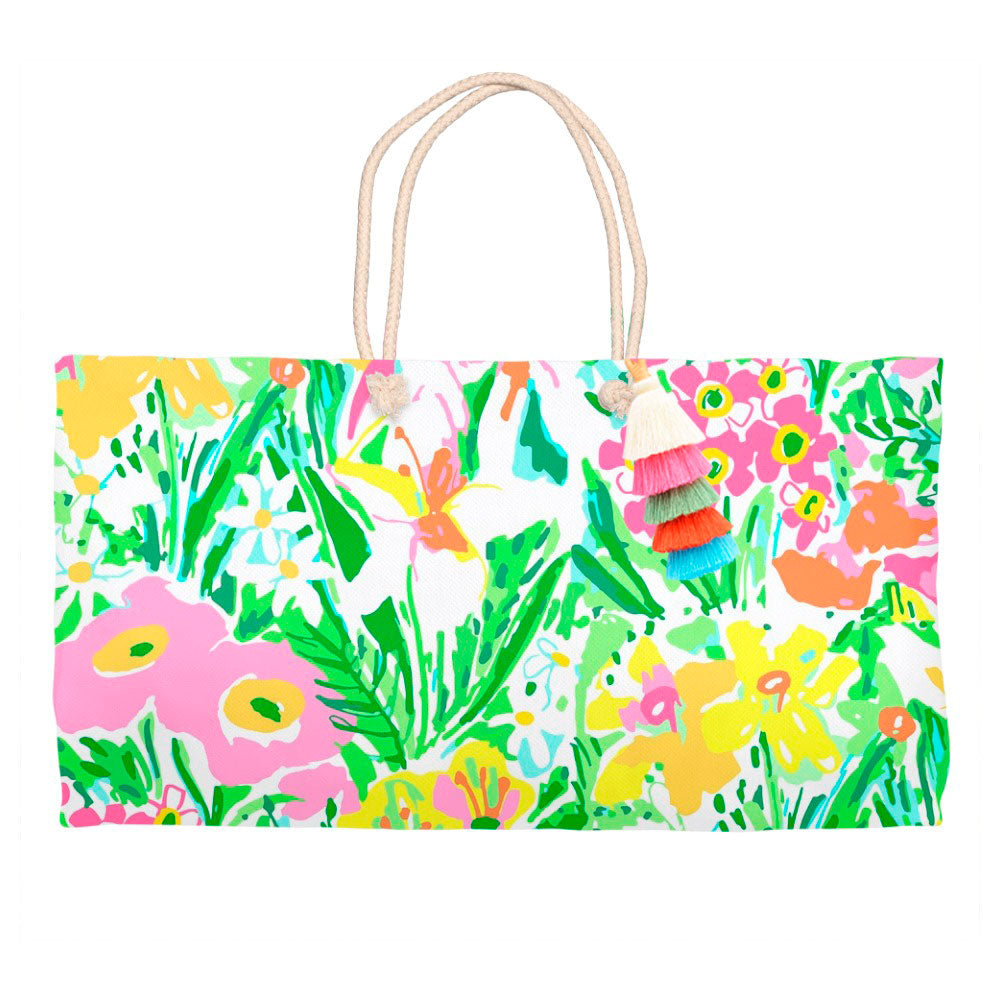 Preppy Perennials Tote Bag