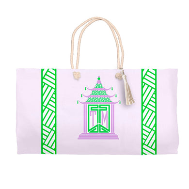 Royal Pagoda, Amethyst, Tote Bag