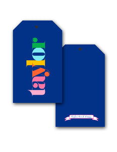 Make it Mine, Navy, Personalized Hang Tags