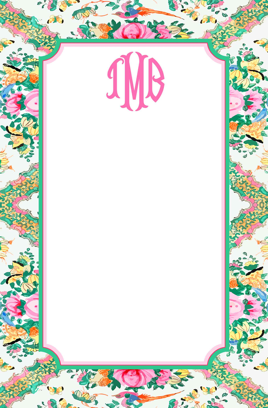 Rose Medallion Inspired Personalized Notepad, Multiple Sizes Available