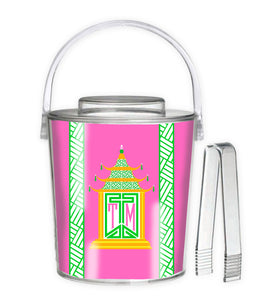 Royal Pagoda, Tourmaline, 3 Qt. Acrylic Ice Bucket