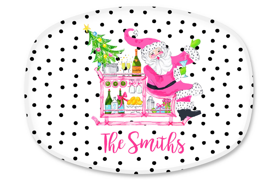 Making Spirits Bright Personalized Holiday Melamine Platter