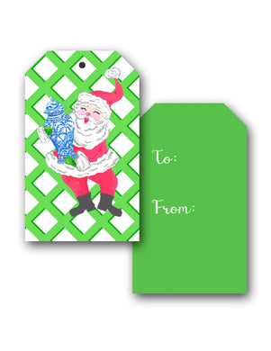 St. Chinoiserie Holiday Hang Tags, Set of 10, Balsam