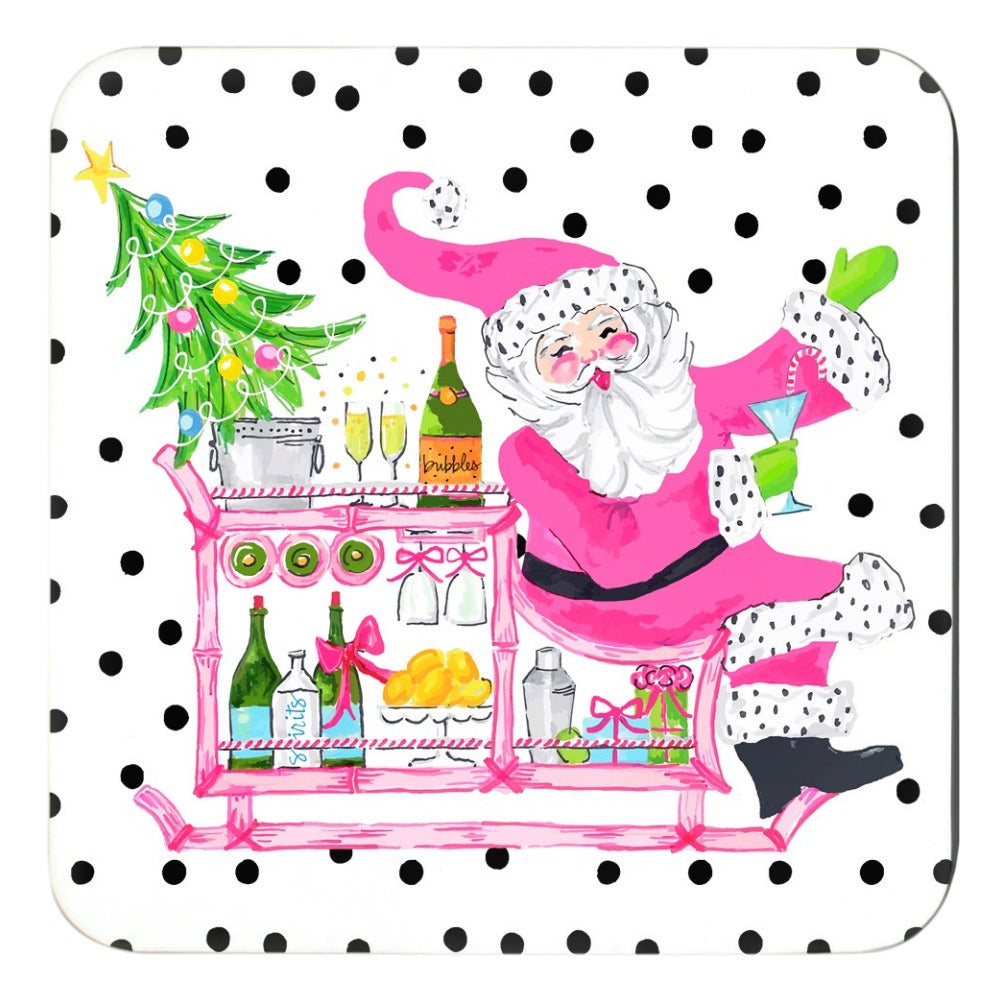 Making Spirits Bright Holiday Cork Backed Coasters - Set of 4