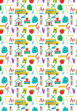 Load image into Gallery viewer, School Supplies Gift Wrap