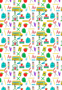 School Supplies Gift Wrap