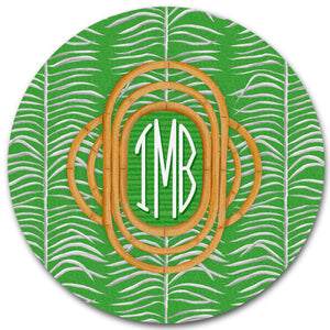 Sea Palms & Bamboo, Palm, Personalized 12