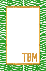 Sea Palms & Bamboo Personalized Notepad, Multiple Sizes Available, Palm