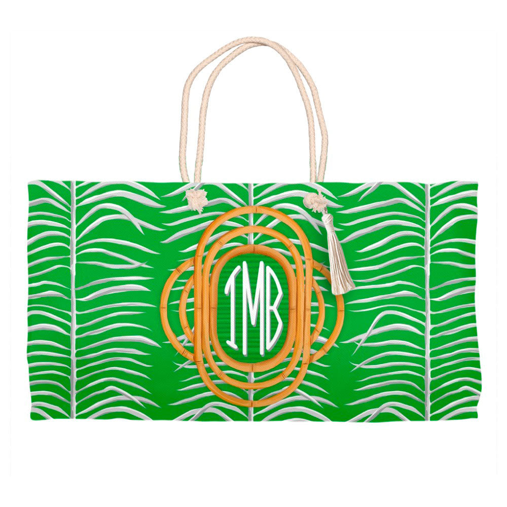 Sea Palms & Bamboo, Palm, Personalized Tote Bag