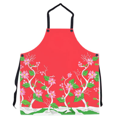 Seasonal Chinoiserie Christmas Apron, Holly Berry