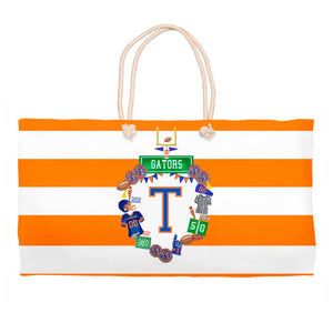 Custom Football Personalized Crest Tote Bag