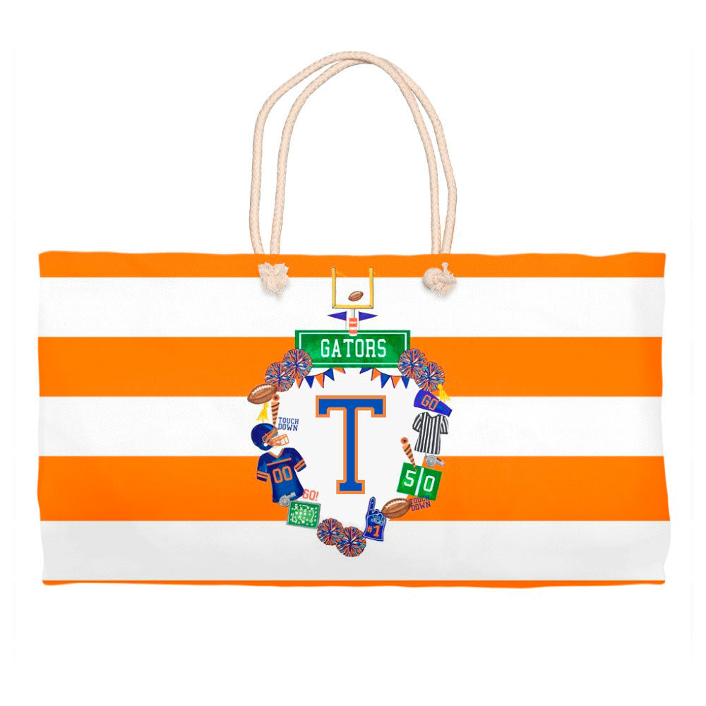 Design Your Own Football Crest in YOUR COLORS Personalized Crest Tote Bag
