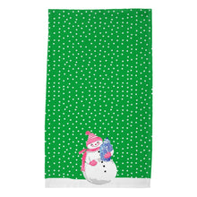 Load image into Gallery viewer, *SALE* Snowoiserie Christmas Poly Twill Tea Towels, Set of 2