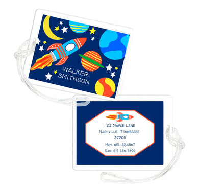 You're a Blast Outer Space Personalized Laminated Bag Tag