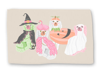 Spooky Staffies Halloween Lightweight Cotton Rug
