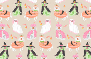 Spooky Staffies Halloween Paper Tear-away Placemat Pad