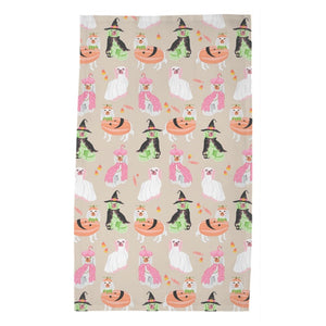 *SALE* Spooky Staffies Poly Twill Tea Towel, Single