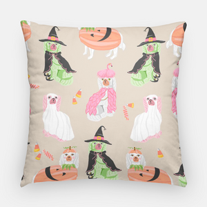 "Spooky Staffies 20""x20"" Halloween Pillow Cover"