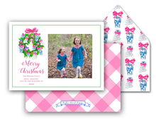 "Load image into Gallery viewer, Chinoiserie Christmas Personalized Photo Holiday Card, 5"" x 7"" A7 Size"