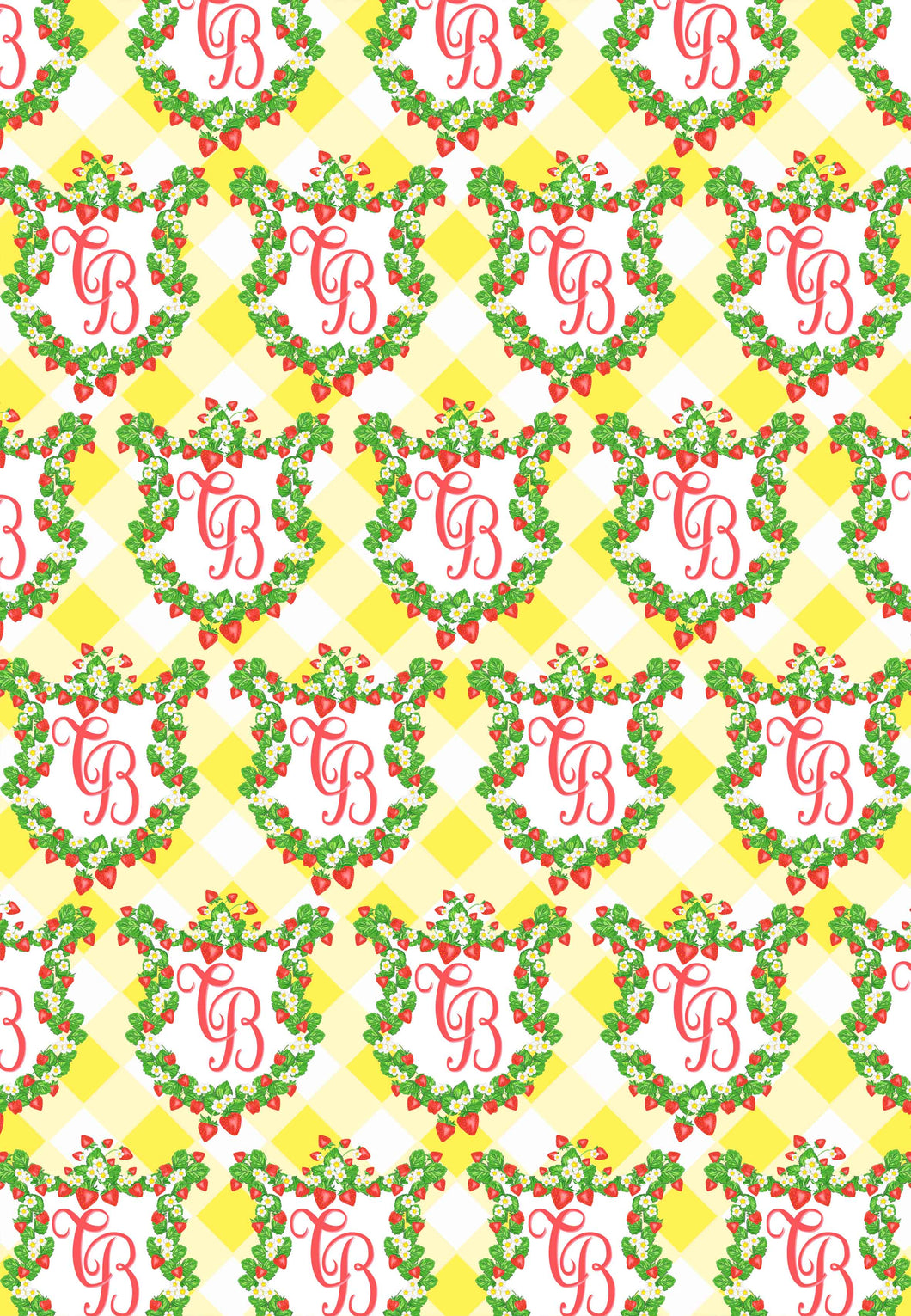 Strawberry Fields Crest Gift Wrap Sheets, Set of 5 Sheets