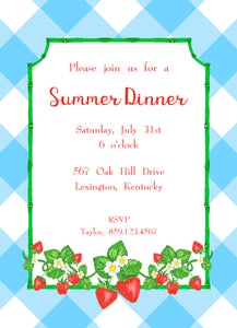 Strawberry Fields, Blue Skies, Invitation
