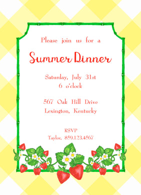 Strawberry Fields, Sunshine, Invitation
