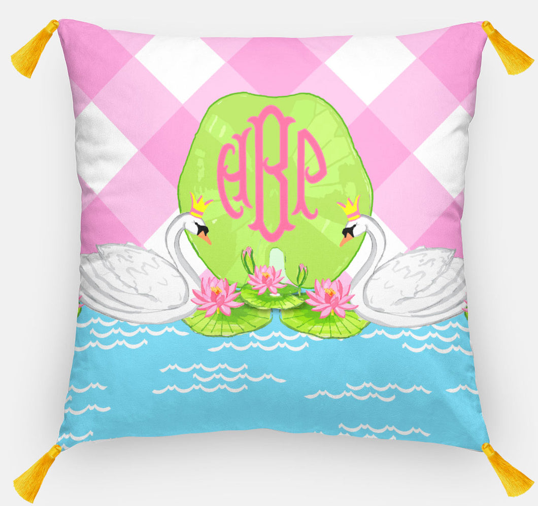 Swan Lake Personalized Pillow, 18