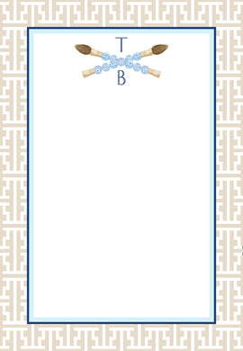 Chinois Scribe Personalized Notepad, Multiple Sizes Available, Taupe